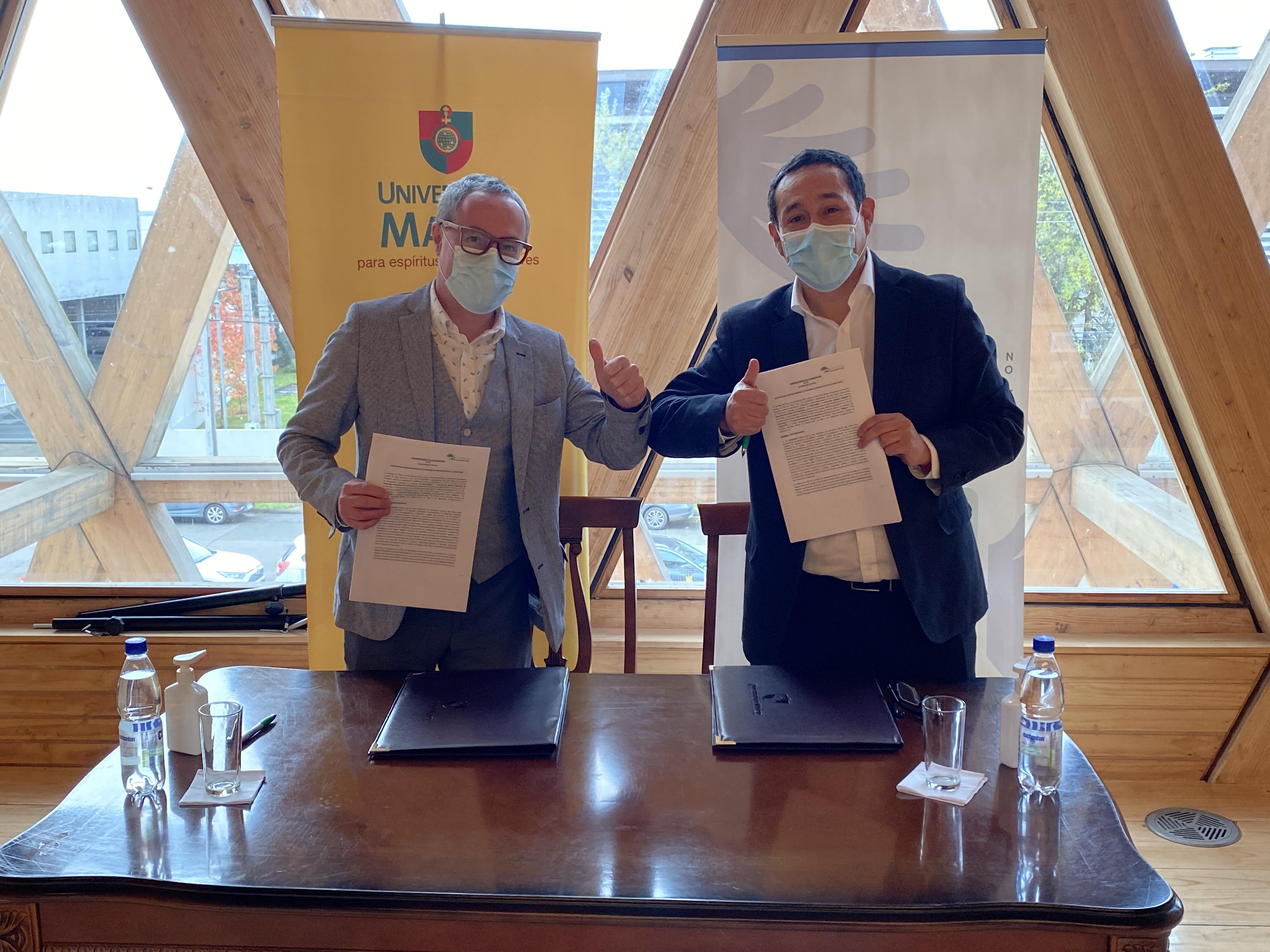 Corporación de Desarrollo Araucanía y Universidad Mayor sellan vinculación en beneficio de la cultura, innovación e investigación regional